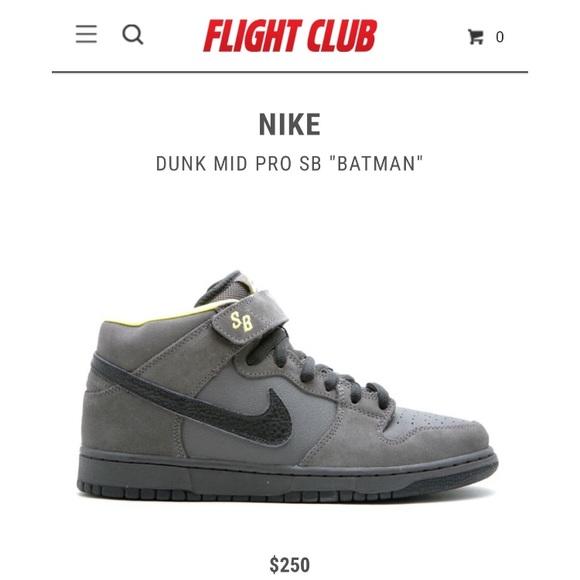 f6d5e9d38c75 Nike Dunk Mid Pro SB Batman. M 5bf48b0ac9bf501e22a278b2